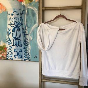 🔆Gap white long sleeve wide collar blouse